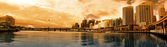Sunset at Darling Harbour, Sydney