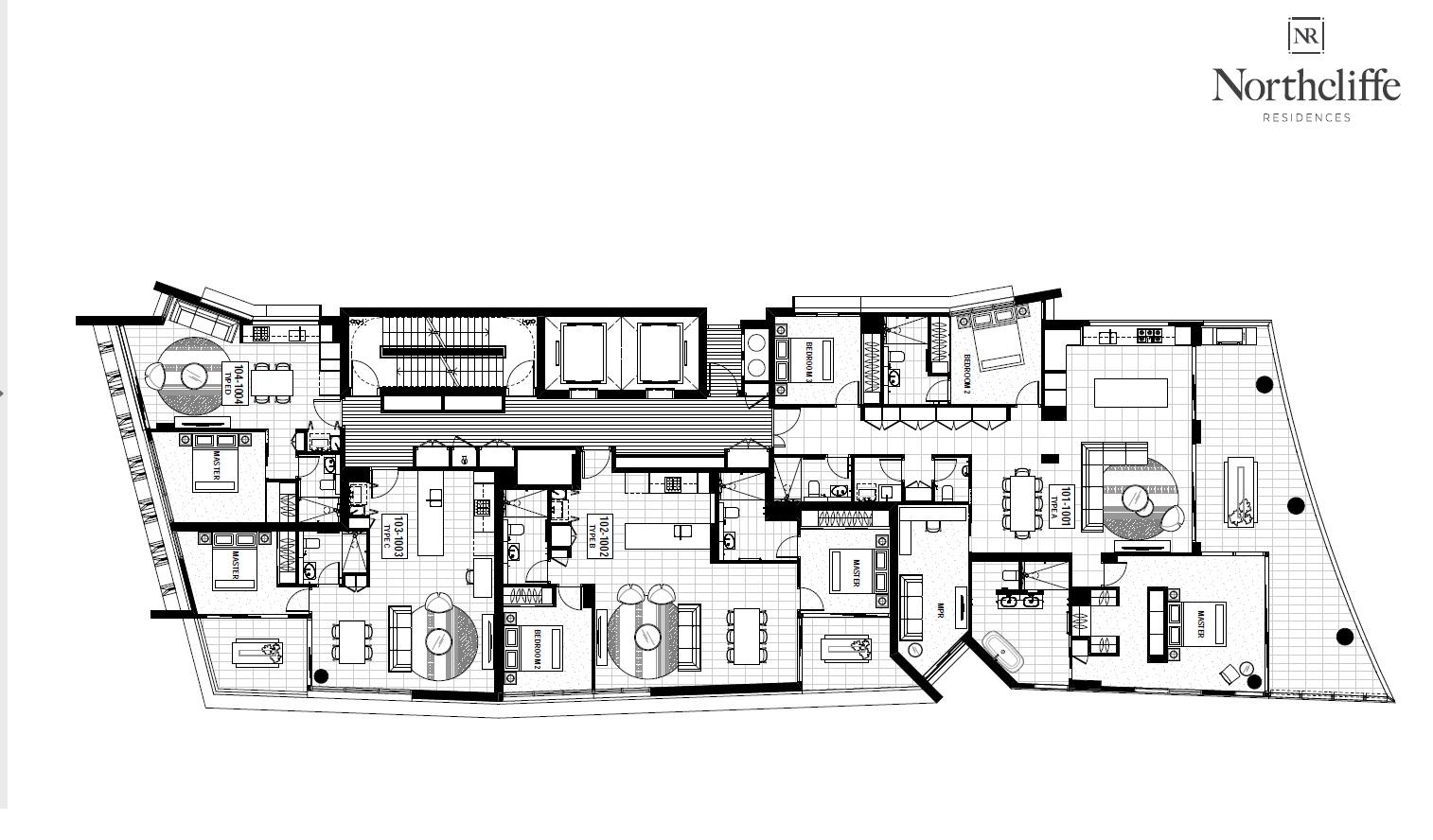 Plan étages 1 à 10