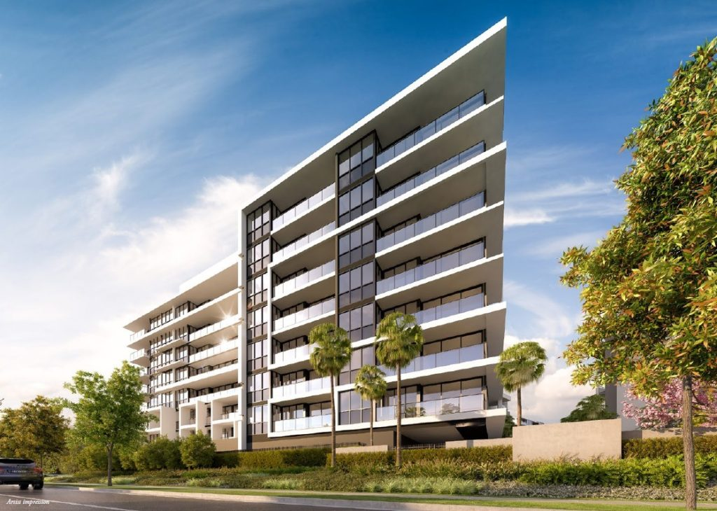 eleve-au-mileu-du-golf-de-palm-meadows-facade-investir-sur-gold-coast-lionel-roby-appartements-neufs-sur-gold-coast
