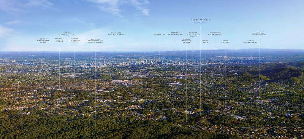 Géolocalisation du projet The HILLS